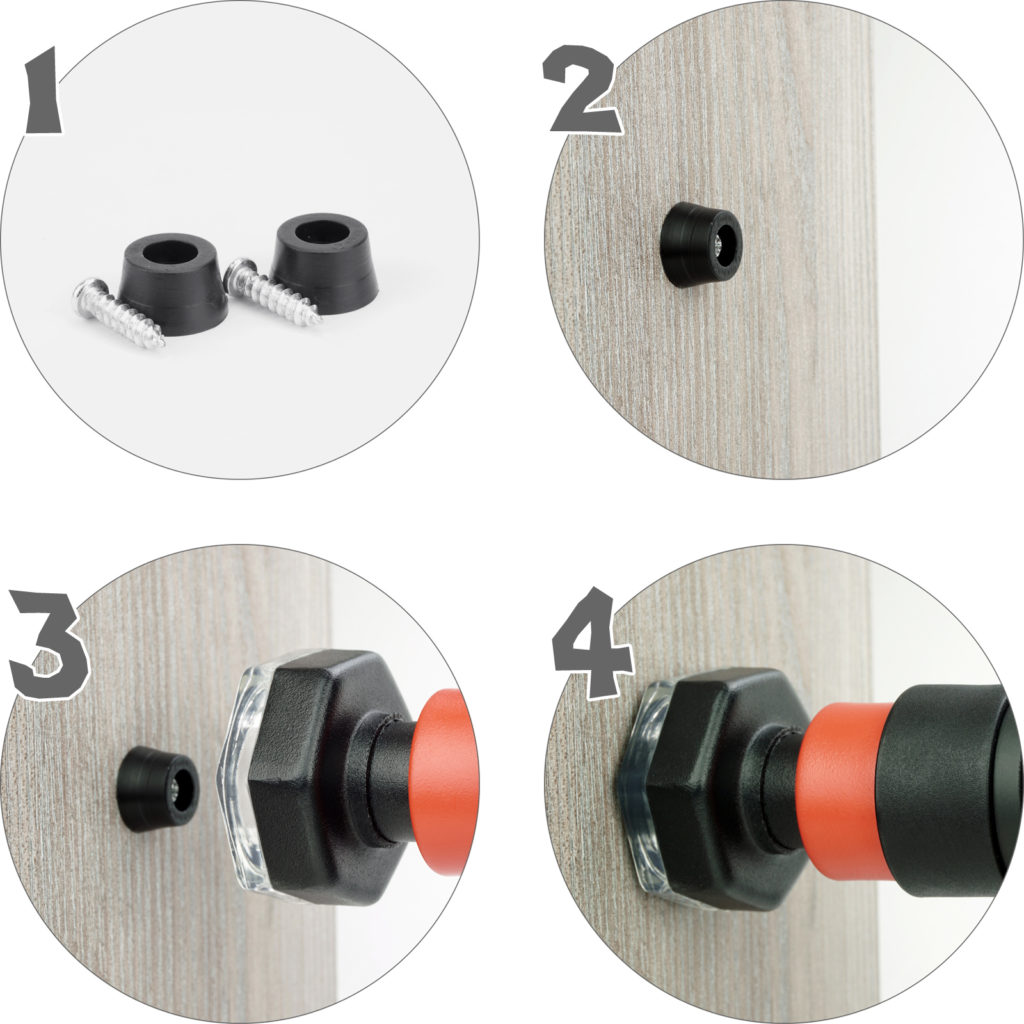Drążek Sensei STICK 65-100 cm - instrukcja montażu kołków