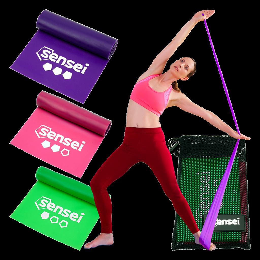 Gumy do jogi, rehabilitacji, fitness Sensei YOGA BANDS