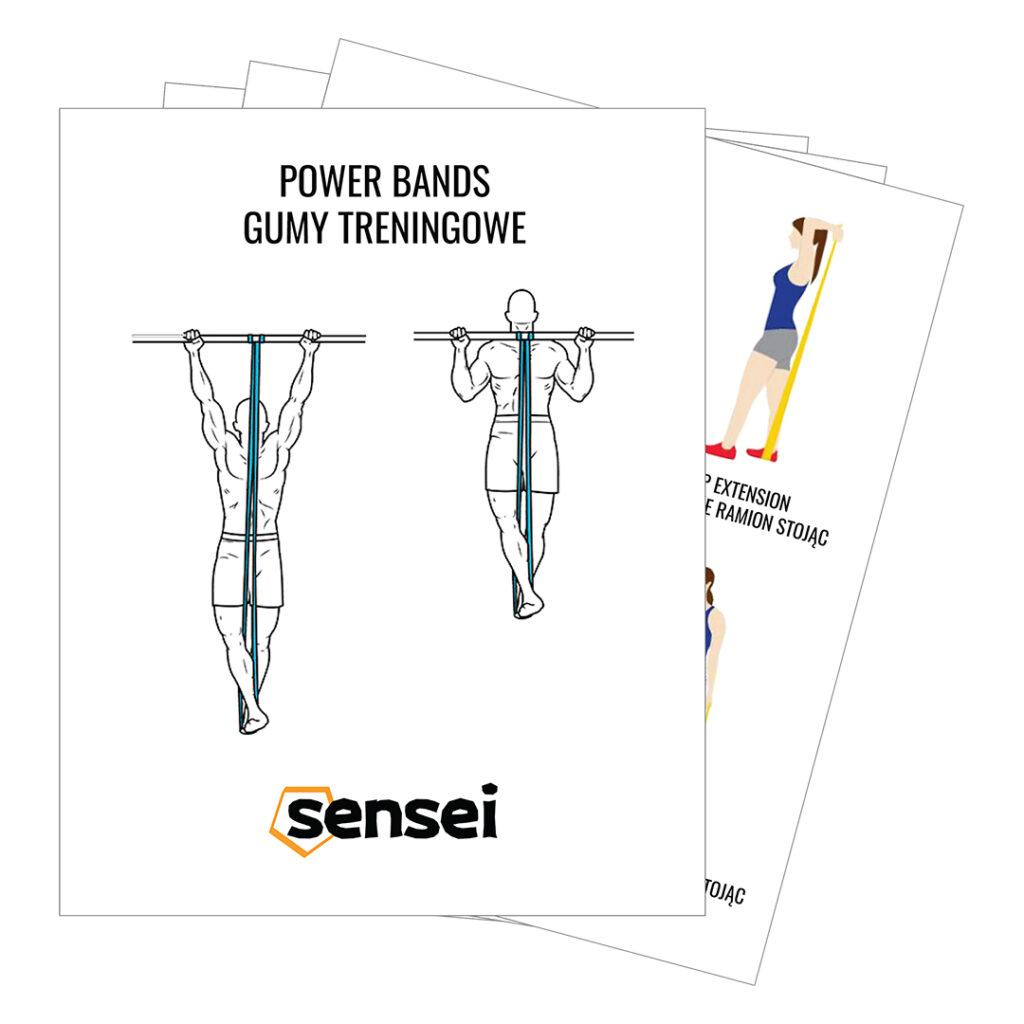 Gumy oporowe do treningu siłowego Sensei POWER BANDS - instrukcja