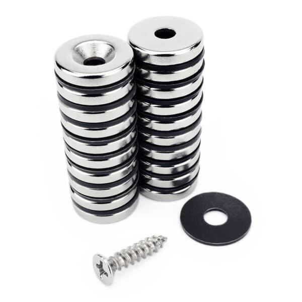 Magnesy neodymowe pierścieniowe 15x3 mm