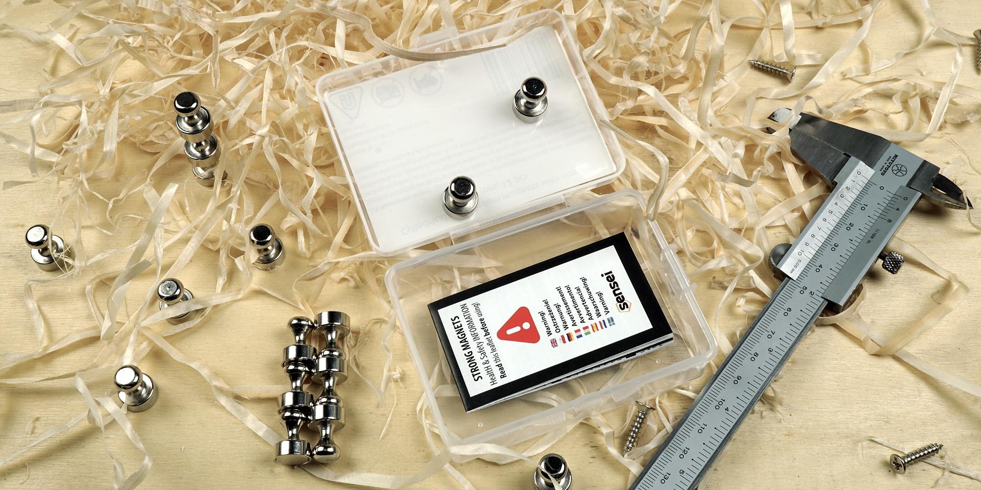 Magnesy do tablicy, lodowki 12x16mm - zestaw 16 szt. z pudełkiem